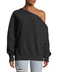 Rag & Bone - Kate One-shoulder Snap-up Pullover Top - Lyst