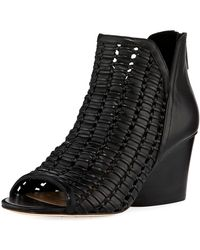 Donald J Pliner - Jacqi Woven Leather Bootie - Lyst