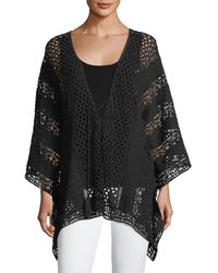 XCVI - Lace Embroidered Voile Poncho - Lyst