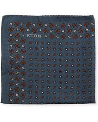 Eton of Sweden | Diamonds Silk Pocket Square | Lyst