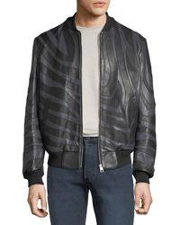 Just Cavalli - Men's Tiger-striped Leather Bomber Jacket - Lyst