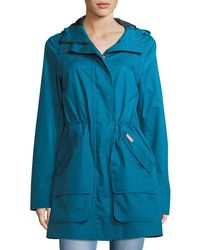 HUNTER - Organic Cotton Waterproof Hooded Coat - Lyst