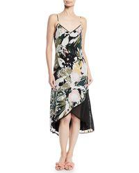 Club Monaco - Kittrick Floral-print Silk Midi Dress - Lyst