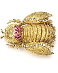 Ben-Amun Crystal Bee Pin - Metallic