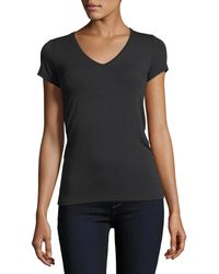 Neiman Marcus - Soft Touch Short-sleeve V-neck Tee - Lyst