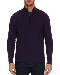 Robert Graham - Men's Rowley Textured Wool Half-zip Sweater - Lyst