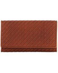 Ermenegildo Zegna Pelle Tessuta Woven Leather Iphone 7 Wallet