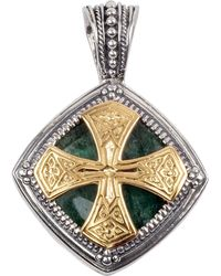 Konstantino - Men's Sterling Silver & 18k Gold Pendant With Aventurine - Lyst