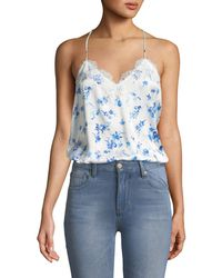 Cami NYC - The Racer Silk Charmeuse Camisole W/ Lace - Lyst
