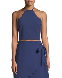 Likely - Reeves Scalloped Halter-neck Crop Top - Lyst