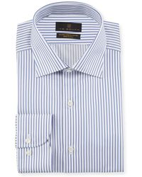 Ike Behar - Men's Striped Cotton Dress Shirt - Lyst