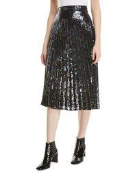 Parker - Citrine Sequined High-waist Midi Skirt - Lyst