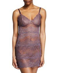 e8f1267086 Samantha Chang - Boudoir Semisheer Lace Full Slip - Lyst