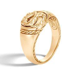 John Hardy Naga Signet Ring - Metallic