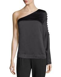 Parker - Ripley One-shoulder Silk Blouse - Lyst