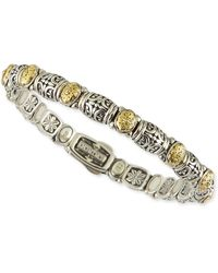 Konstantino - Sterling Silver/18k Gold Dotted Clasp Bracelet - Lyst