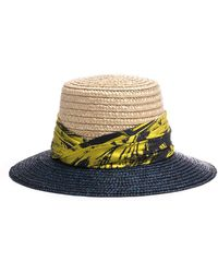 Eugenia Kim - Stevie Two-tone Straw Sun Hat - Lyst