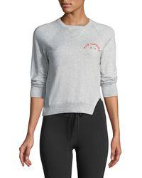 The Upside Wilder Knit Long-sleeve Crewneck Sweater - Gray