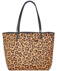 Gigi New York Tori Leopard-print Tote Bag - Brown