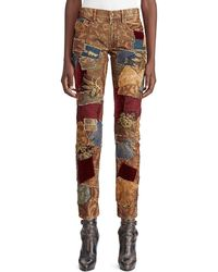 Ralph Lauren Collection - 50th Anniversary Kinsley Multi-fabric Patchwork Cigarette-leg Jeans - Lyst