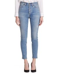 Citizens of Humanity Olivia High-rise Slim Ankle Jeans W/ Button Fly - Blue