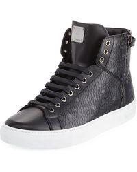 MCM | Visetos High-top Sneaker | Lyst