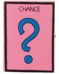 Olympia Le-Tan Chance Monopoly Card Box Clutch Bag - Pink