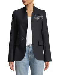 Zadig & Voltaire - Very Bis Button-less Embellished Jacket - Lyst