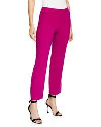 Trina Turk - Jarreau Colette Double-weave Luxe Straight-leg Ankle-length Pants - Lyst
