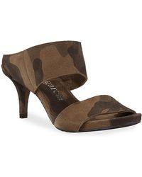 Pedro Garcia Winda Double Camo Sandals - Brown