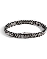 John Hardy - Men's Rhodium-plated Classic Chain Bracelet - Lyst