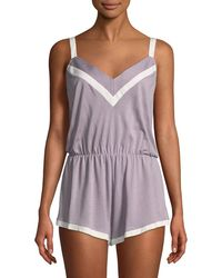 Cosabella - Bella Jersey Teddy With Contrast Trim - Lyst