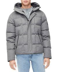 UGG Men's Cadin Hip-length Puffer Parka Coat - Gray