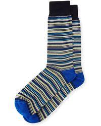 Neiman Marcus - Striped Cotton Socks - Lyst