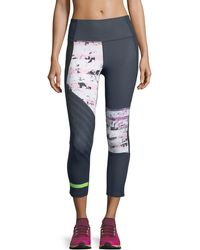 Under Armour - Mirror High-rise Printed Crop Performance Leggings - Lyst