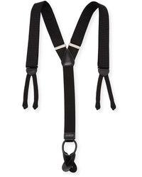 Trafalgar Formal Andora Silk Braces - Black