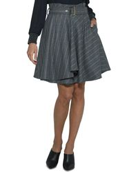 Eleventy - Pinstriped Wool Circle Skirt - Lyst