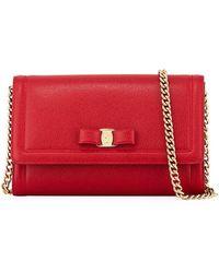 Ferragamo Miss Vara Mini Crossbody Bag - Red