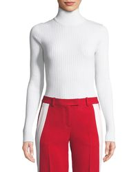 Michael Kors - Long-sleeve Zip-back Turtleneck Sweater - Lyst