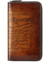 Berluti - Scritto Leather Zip-around Wallet - Lyst