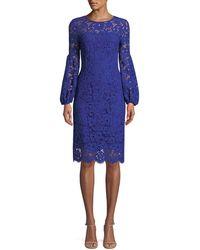 df4c6fc837dfa Elie Tahari - Shayla Floral-lace Sheath Dress - Lyst