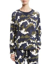 The Upside Sid Camo-print French Terry Crewneck Top - Multicolor