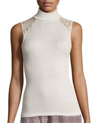 Hanro - Lillian Lace-inset Sleeveless Layering Top - Lyst