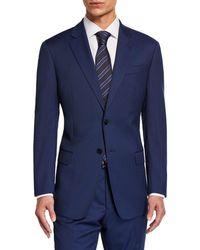 Emporio Armani Men's G-line Virgin Wool Two-piece Suit - Blue