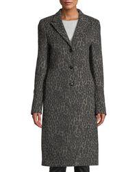 RTA - Jamson Leopard-print Wool Long Coat - Lyst