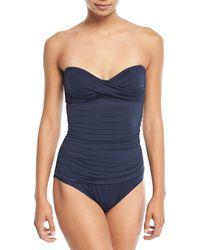 Letarte - Essentials Bandeau-top One-piece Swimsuit - Lyst
