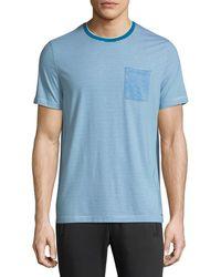 Michael Kors - Striped Silk-blend T-shirt - Lyst