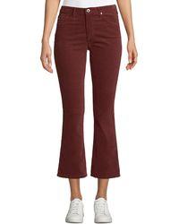 AG Jeans - Jodi Velvet Cropped High-rise Flare Jeans - Lyst