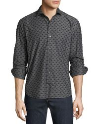 Culturata - Men's Coupe Textured Sport Shirt - Lyst