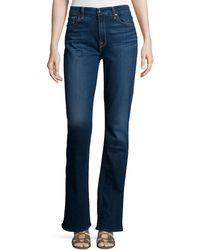 7 For All Mankind - Riche Touch Classic Slim Boot-cut Jeans Medium Blue - Lyst